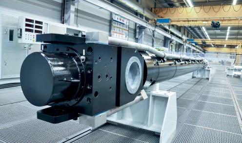 Gran cilindro hidráulico para ingeniería civil