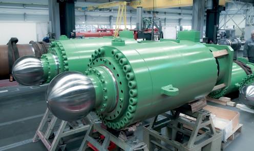 Gran cilindro hidráulico para metalurgia